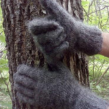 Accessories handmade. Livemaster - original item Men`s down gloves. Handmade.