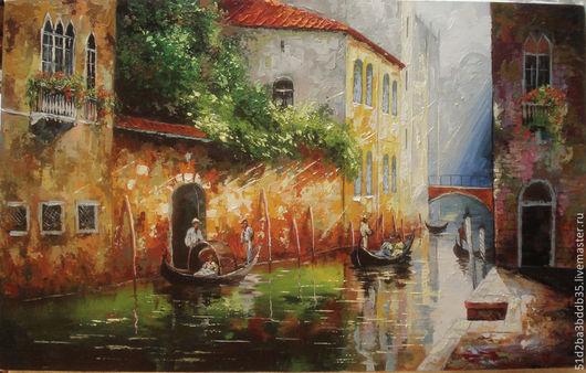 Город ручной работы. Ярмарка Мастеров - ручная работа. Купить Венеция на рассвете. Handmade. Картина, картина маслом, венеция