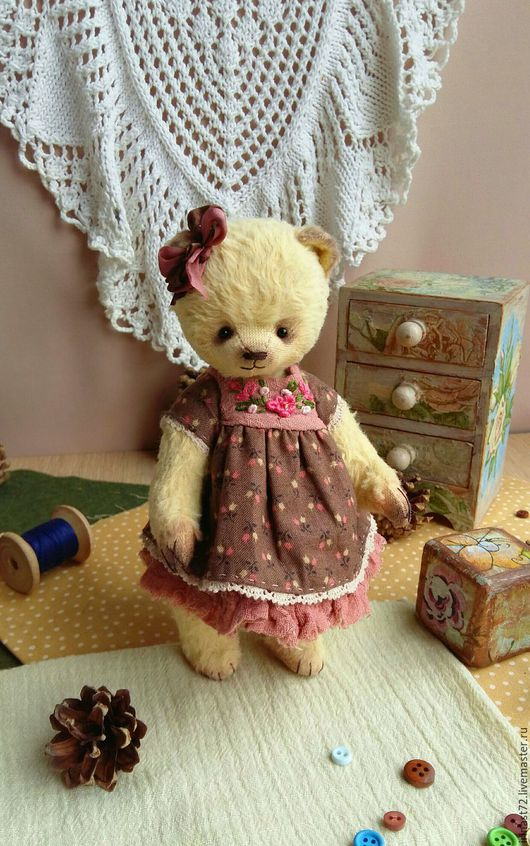 Мишки Тедди ручной работы. Ярмарка Мастеров - ручная работа. Купить Наташенька. Handmade. Лимонный, мишка ручной работы, подарок