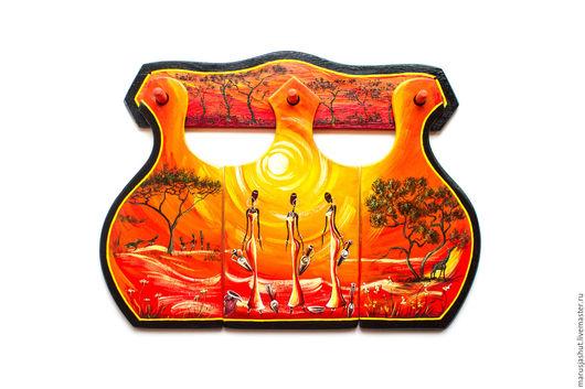 Подарочные наборы ручной работы. Ярмарка Мастеров - ручная работа. Купить Солнечная Африка. Handmade. Солнечная африка, роспись, темпера