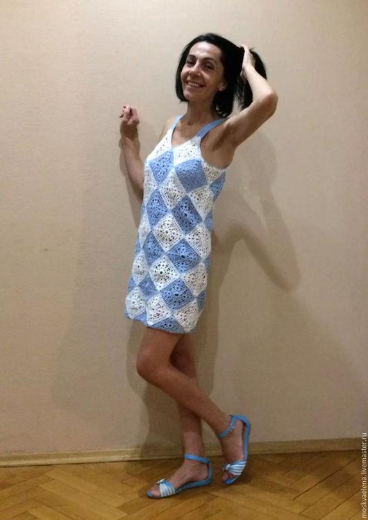 Платья ручной работы. Ярмарка Мастеров - ручная работа. Купить летнее платье. Handmade. Голубой, платье, пляжное платье