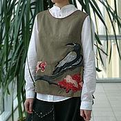 """Одежда ручной работы. Ярмарка Мастеров - ручная работа Жилет """"Ворон"""". Handmade."""