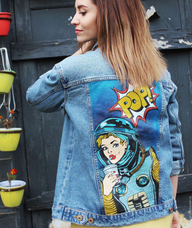 Джинсовая куртка с микки
