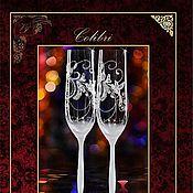 """Свадебный салон ручной работы. Ярмарка Мастеров - ручная работа Свадебные бокалы """"Colibri"""". Handmade."""