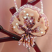 Украшения handmade. Livemaster - original item Pendant Velvet evening glass and beads. Handmade.