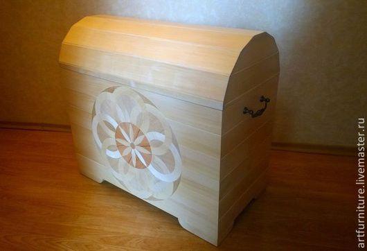 Мебель ручной работы. Ярмарка Мастеров - ручная работа. Купить Большой деревянный сундук из березы с инкрустацией. Handmade. Сундук