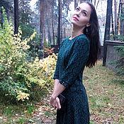 Одежда ручной работы. Ярмарка Мастеров - ручная работа СКИДКА 40%  Зеленое платье с классическим орнаментом. Handmade.