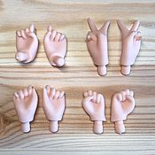 Заготовки для кукол и игрушек ручной работы. Ярмарка Мастеров - ручная работа Кисти для Блайз (skin tone Normal). Handmade.