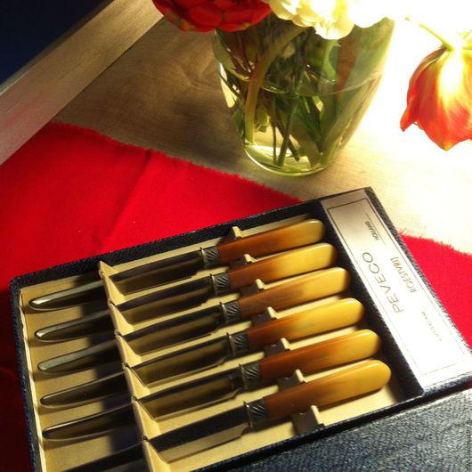 """Винтажная посуда. Ярмарка Мастеров - ручная работа. Купить Десертные ножи """"Peveco"""" Голландия. Handmade. Ножи, для дачи, подарок"""