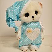Куклы и игрушки ручной работы. Ярмарка Мастеров - ручная работа Мишка тедди в пижамке. Handmade.