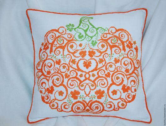 Текстиль, ковры ручной работы. Ярмарка Мастеров - ручная работа. Купить Подушка декоративная Тыковка. Handmade. Оранжевый, подушка в подарок