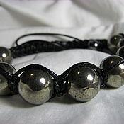Украшения handmade. Livemaster - original item Shamballa bracelet with pyrite