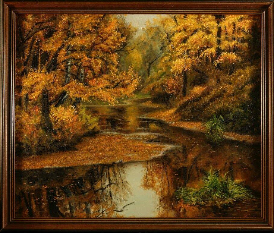 Картина маслом, пейзаж, Осенний парк, Картины, Нижний Новгород,  Фото №1