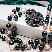 Украшения handmade. Livemaster - original item Necklace beads natural river pearls natural toned coral. Handmade.