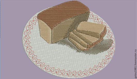 """Вышивка ручной работы. Ярмарка Мастеров - ручная работа. Купить Дизайн машинной вышивки. """"Хлеб-всему голова"""".. Handmade."""