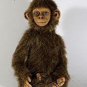 Куклы и игрушки ручной работы. Ярмарка Мастеров - ручная работа Обезьяна  символ 2016. Обезьянка шимпанзе. Handmade.
