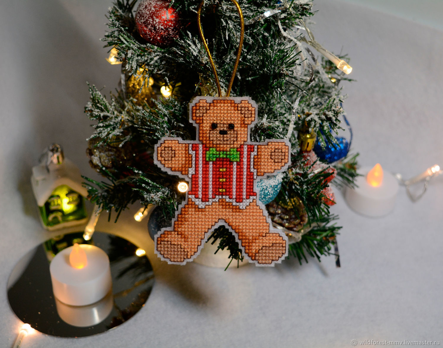 New Year 2019 handmade. Livemaster - handmade. Buy Christmas toy Bear.Toy, new year, tree, combo