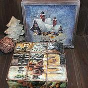 """Для дома и интерьера ручной работы. Ярмарка Мастеров - ручная работа Кубики """"Волшебство приходит в дом"""". Handmade."""