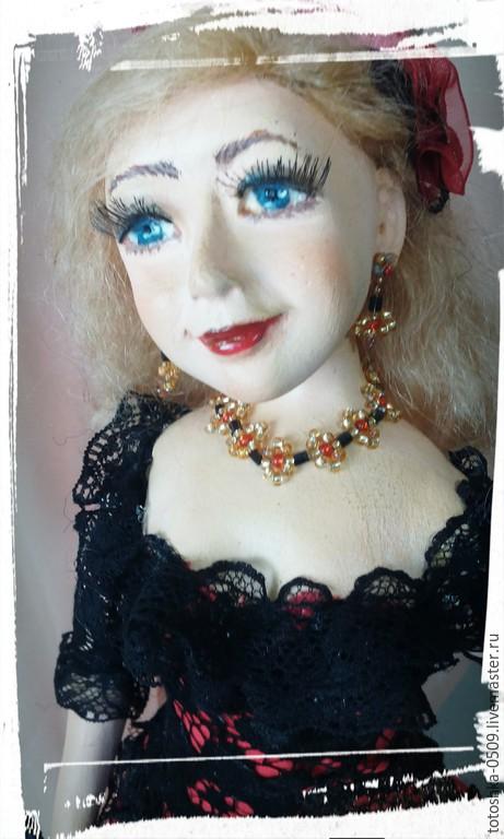 Портретные куклы ручной работы. Ярмарка Мастеров - ручная работа. Купить Фламенко. Handmade. Ярко-красный, портрет по фото, пастель