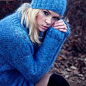 Одежда handmade. Livemaster - original item Warm mohair sweater. Handmade.