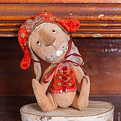 Куклы и игрушки ручной работы. Ярмарка Мастеров - ручная работа Кролик Щелкунчик Тедди винтажный. Handmade.