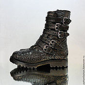 Обувь ручной работы handmade. Livemaster - original item Shoes made of Python ULTIMATE. Black Python.. Handmade.