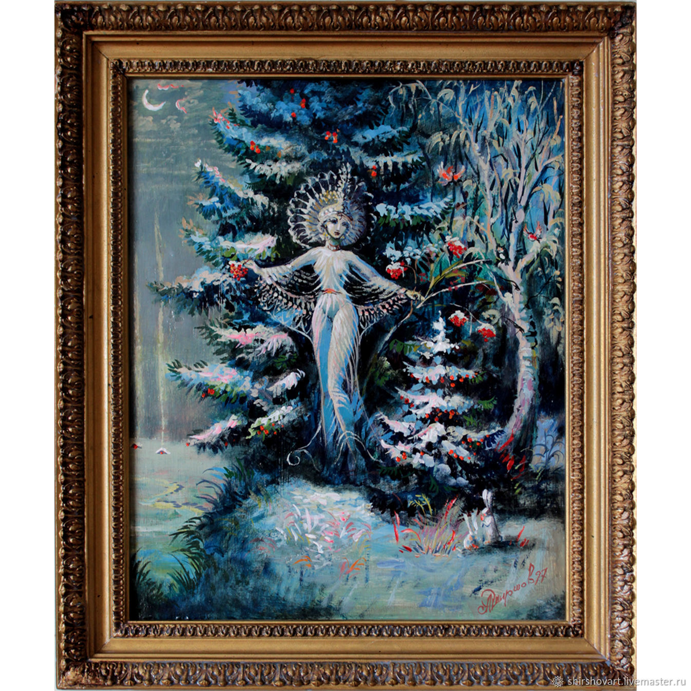 Picture 'snow maiden' in the frame, Pictures, Morshansk,  Фото №1