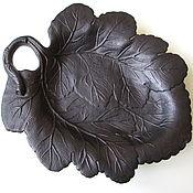 Винтаж handmade. Livemaster - original item Big Ashtray Plate Watermelon Sheet Of A Style Kasli Kusa Cast Iron. Handmade.