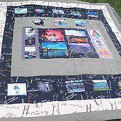 Для дома и интерьера ручной работы. Ярмарка Мастеров - ручная работа Лоскутное одеяло покрывало с фотографиями. Handmade.