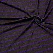 Материалы для творчества ручной работы. Ярмарка Мастеров - ручная работа Трикотаж вязаный коричневый в фиолетовую полоску. Handmade.