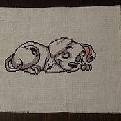 Картины и панно ручной работы. Ярмарка Мастеров - ручная работа Спящий долматинец. Handmade.
