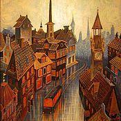 Картины и панно ручной работы. Ярмарка Мастеров - ручная работа городок. Handmade.
