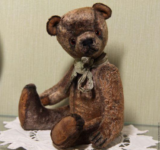 Мишки Тедди ручной работы. Ярмарка Мастеров - ручная работа. Купить Мишка Трезор в ретро-стиле. Handmade. Коричневый, винтаж