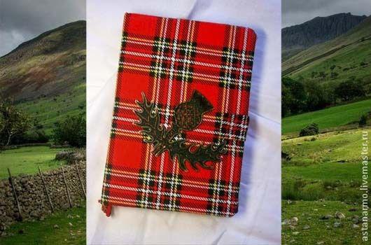 """Блокноты ручной работы. Ярмарка Мастеров - ручная работа. Купить Блокнот """"Шотландский Чертополох"""". Handmade. Ярко-красный, блокнот для мужчины"""
