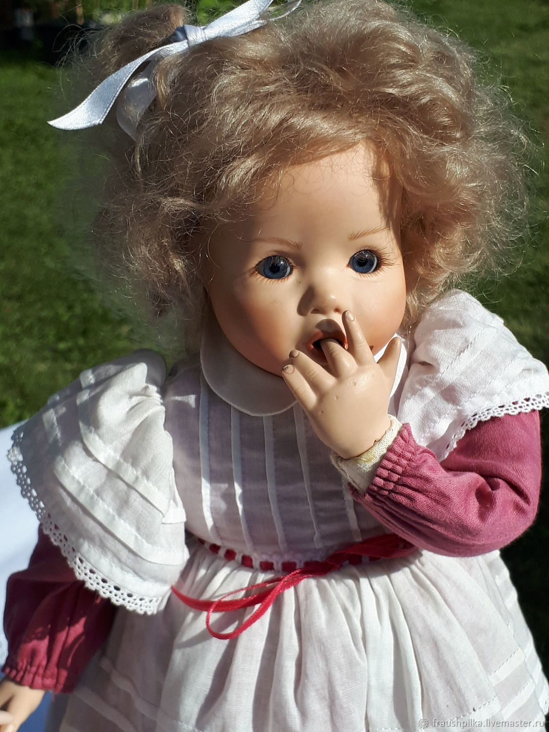 Collectible porcelain doll is too Shy to ask, Dolls, Augsburg,  Фото №1