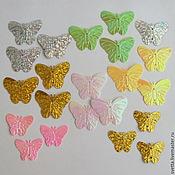 Материалы для творчества ручной работы. Ярмарка Мастеров - ручная работа Пайетки в виде бабочек (в ассортименте). Handmade.