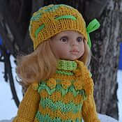 Куклы и игрушки handmade. Livemaster - original item Sweater, scarf and hat for Paola Reina doll. Clothes for dolls.. Handmade.