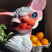 Для дома и интерьера handmade. Livemaster - original item Frosch. Big statue of cat breed Devon Rex.. Handmade.