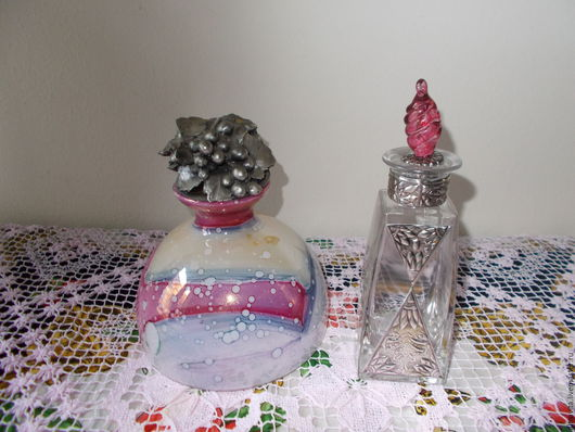 Винтажная посуда. Ярмарка Мастеров - ручная работа. Купить Две бутылочки  винтаж, Италия. Handmade. Комбинированный, посуда, красивый стол