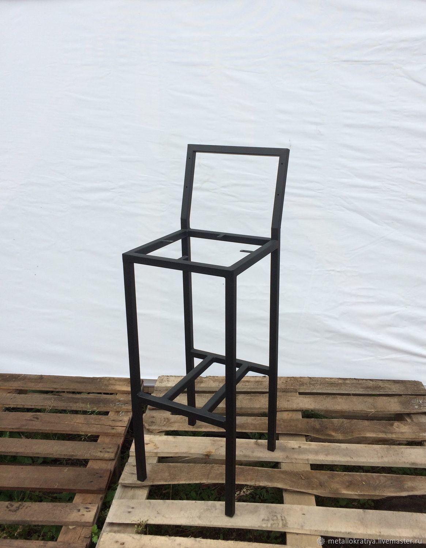 Металлокаркас барного стула со спинкой