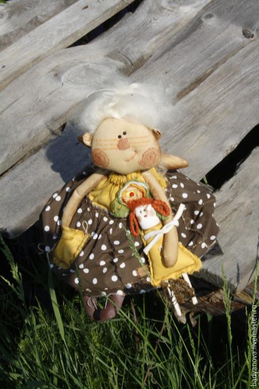 Ароматизированные куклы ручной работы. Ярмарка Мастеров - ручная работа. Купить Кукла  Марфуша.. Handmade. Коричневый, авторская работа