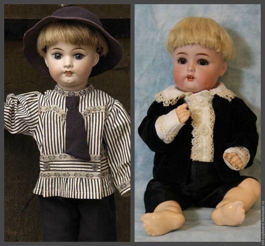 Примеры старинных кукол в подобных париках