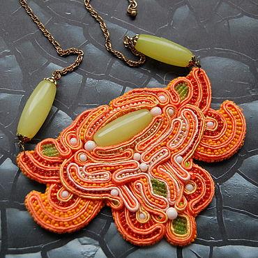 """Украшения ручной работы. Ярмарка Мастеров - ручная работа Колье: """" оранжевое"""". Handmade."""