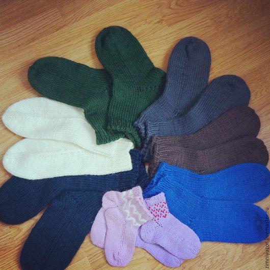 Носки, Чулки ручной работы. Ярмарка Мастеров - ручная работа. Купить Носки для всей семьи.. Handmade. Тёмно-синий, Носки шерстяные
