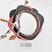 Украшения handmade. Livemaster - original item CULT №4.  Large bracelet made of wood and washable craft. Handmade.