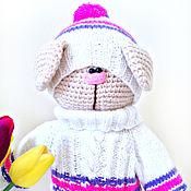 Куклы и игрушки ручной работы. Ярмарка Мастеров - ручная работа Котик в свитерке. Вязаная крючком игрушка. Handmade.