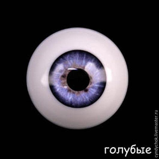 Куклы и игрушки ручной работы. Ярмарка Мастеров - ручная работа. Купить 28 мм, голубой  Глаза акриловые для кукол. Handmade.