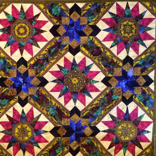 """Текстиль, ковры ручной работы. Ярмарка Мастеров - ручная работа. Купить """"Сверхновые""""  лоскутное одеяло. Handmade. Лада, лоскутное покрывало"""