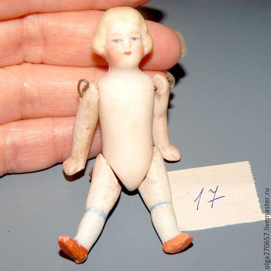 Винтажные куклы и игрушки. Ярмарка Мастеров - ручная работа. Купить Антикварная маленькая куколка 17. Handmade. Бежевый, Маленькая куколка