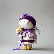 Куклы и игрушки ручной работы. Ярмарка Мастеров - ручная работа Маленькая кукла с букетом цветов.... Handmade.